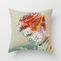 niall Throw Pillows featuring Geometric Niall by Peek At My Dreams