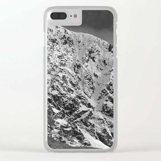 Fresh Snow in Portage Valley, Alaska - B & W Clear iPhone Case