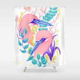Northern Gannets Shower Curtain