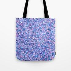 Blue Violet Doodle Tote Bag