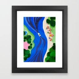 Cruising on a summer day Framed Art Print