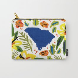 South Carolina + Florals Carry-All Pouch