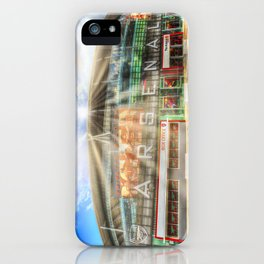 Arsenal Football Club Emirates Stadium London Sun Rays iPhone Case