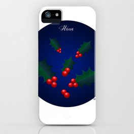 Holly (houx) iPhone Case