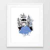 finn Framed Art Prints featuring Finn by PennyHappy