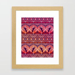 Peacock Patterm Framed Art Print