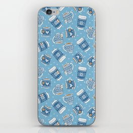 Cozy Blue Mugs iPhone Skin