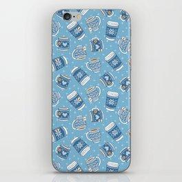 Cozy Blue Mugs iPhone Skin