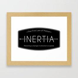 Inertia Logo Framed Art Print