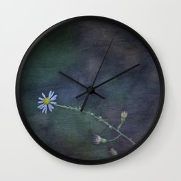Daisy with Dark Expressions Wall Clock