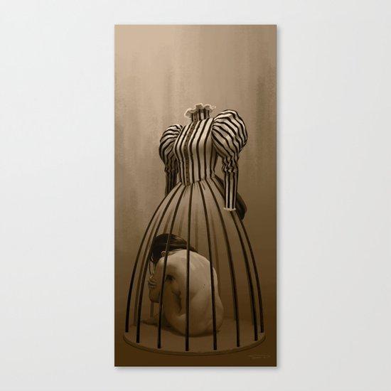 The cage / La cage Canvas Print