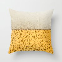 beer Throw Pillows featuring Beer by Rorzzer