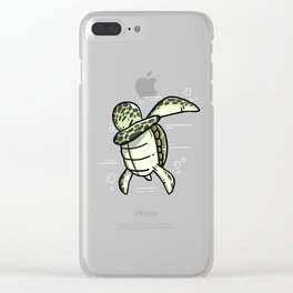 Funny Dabbing Turtle Pet Dab Dance Clear iPhone Case
