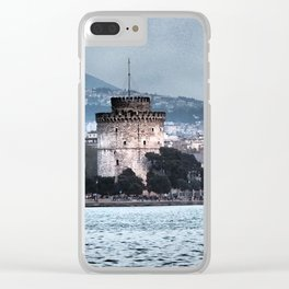 White Tower-Thessaloniki Clear iPhone Case