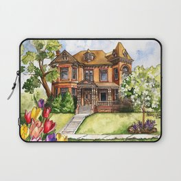 Victorian Mansion in the Spring Laptop Sleeve