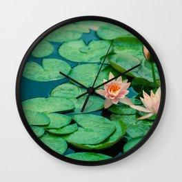 Lily Pond Wall Clock