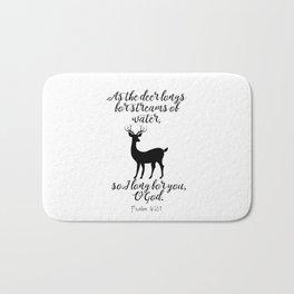 As The Deer Longs Psalm 42:1 Bath Mat