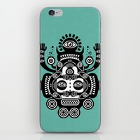 tatoo iPhone & iPod Skins featuring Râ Tatoo by Exit Man