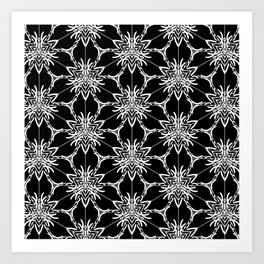 Floral geometric Art Print