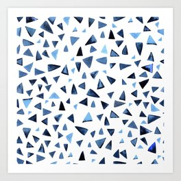 Blue dance Art Print