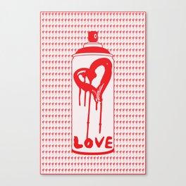 Spray Can Bleeding Heart Canvas Print