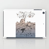 narwhal iPad Cases featuring Narwhal by Judit Canela