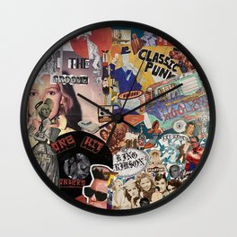 The K Groove Wall Clock