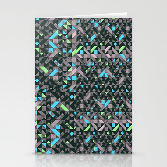 GEOMETRIC GREYS AND BLUES  Stationery Cards