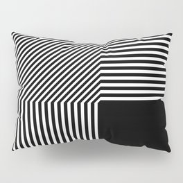 Geometric abstraction, black and white Pillow Sham