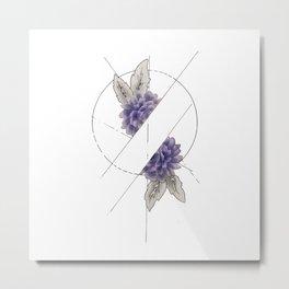 Floral Division Metal Print