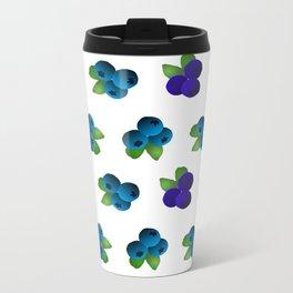 Blueberries Metal Travel Mug