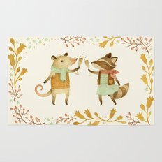 Cheers! From Pinknose the Opossum & Riley the Raccoon Rug
