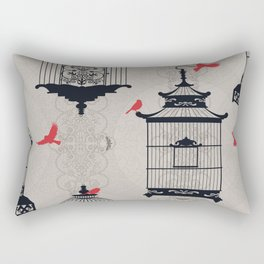 Kiss Empty Brid Cages Rectangular Pillow