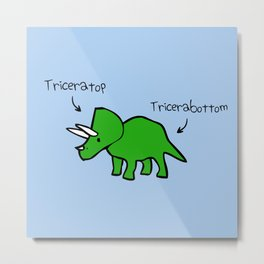 Triceratops Tricerabottom Metal Print