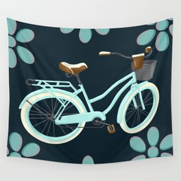 My Bike Floral Wall Tapestry