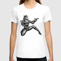 catwoman T-shirts featuring Catwoman  by Elizabeth A