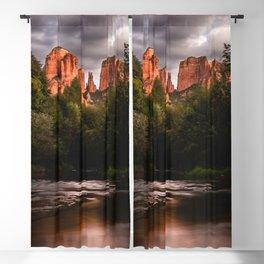 Sedona Vortex II - Chimney Rock Desert Photography Blackout Curtain