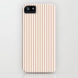 Wild MeerKat Brown Mattress Ticking Narrow Striped Pattern - Fall Fashion 2018 iPhone Case