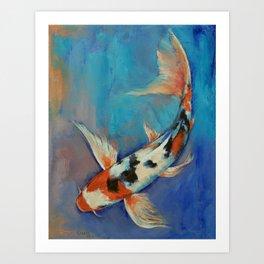 Sanke Butterfly Koi Art Print