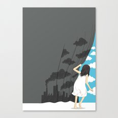 Hey Mr. Blue Sky Canvas Print
