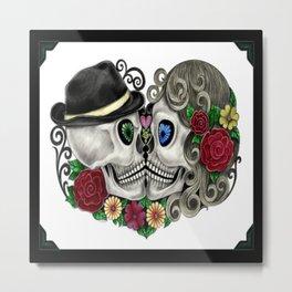 Sugar Skull Snapshot Metal Print