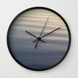 One Rock Waits for Waves in the Morning Light Wall Clock