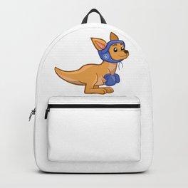 Cartoon Boxing Kangaroo Backpack