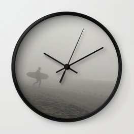 Solo Surfer Wall Clock
