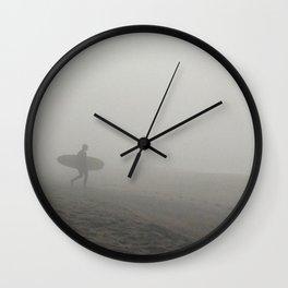 Solo Surfer Wall Clock