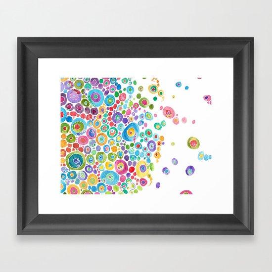 Inner Circle - white Framed Art Print