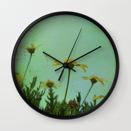 Fragile Flowers Wall Clock