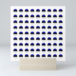 Flag of estonia 3-estonian,baltic,tallinn,tartu,eesti,balti,slav,viking,baltico,parnu Mini Art Print