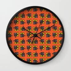 camera 01 pattern Wall Clock