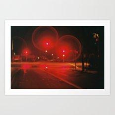Red Lights Art Print